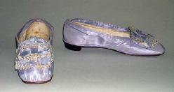 Sapatos americanos de 1860.