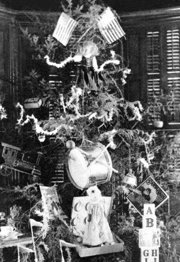 Foto de uma árvore de Natal de 1889.
