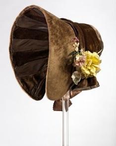 Um poke bonnet de 1845.