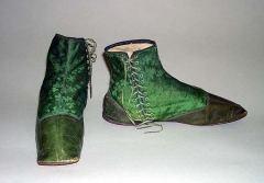 Sapatos americanos por volta de 1830.
