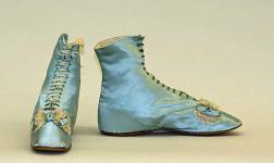 Sapatos franceses de 1850.