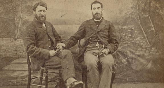 Casal homossexual do século 19, identidades e data exata desconhecidas.