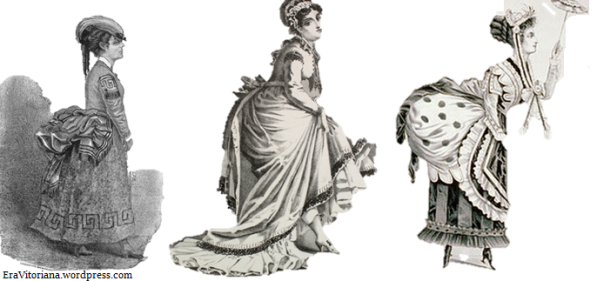 Montagem de capas de revistas vitorianas mostram a evolução da curvatura grega ao longo das décadas.