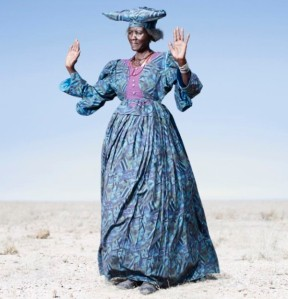 Herero woman in blue dress