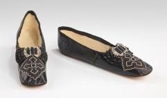 Sapatos franceses feitos por volta de 1855 - 1865.