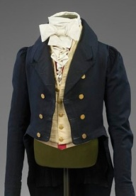 Raríssimo exemplar de um jabô masculino de 1820 (antes mesmo do período vitoriano).