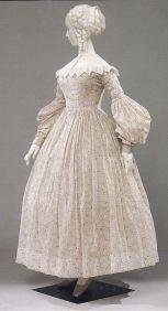Vestido de 1837.