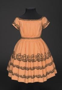 Vestido americano de criança, 1842 - 1845.