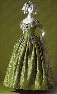 Vestido de 1845.