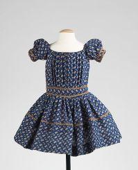 Vestido de criança de 1850 - 1855.