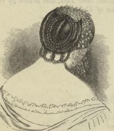 Penteado americano de 1855.