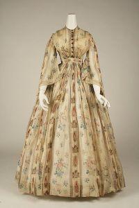 Vestido americano de cotton, 1856.