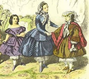 Moda infatil de 1858.