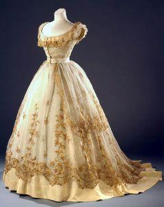 Vestido de baile de 1865.