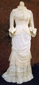 Vestido de verão de 1878.