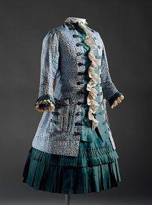 Vestido e casaco de 1885.