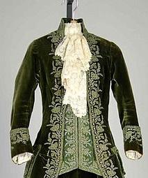 Jabô de um vestido de 1888 (parece masculino, mas não é).