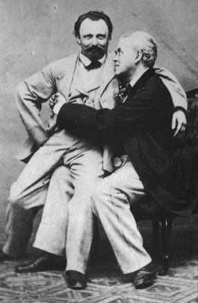 Casal gay em 1894.