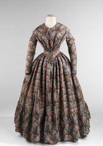 Vestido americano de 1843.