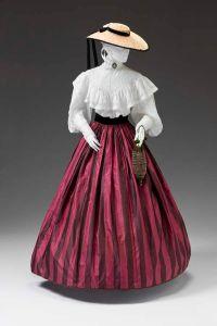 Vestido americano de 1850 - 1860.