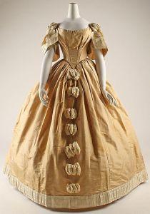Vestido de baile americano, 1855.