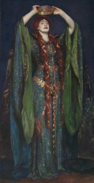 Ellen Terry como Lady Macbeth, por John Singer Sargent.