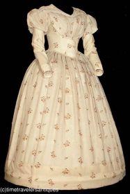 Vestido do final de 1830.