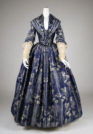 Vestido inglês de 1842.