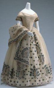 Vestido de manhã de 1850.