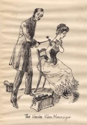 Nas propagandas, os vibradores eram mostrados como fazendo massagem nos rostos e braços, para disfarçar seu propósito.