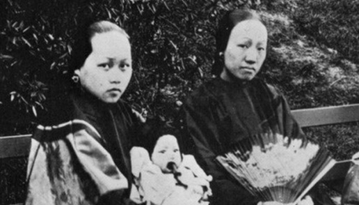Mulheres chinesas no Golden Gate Park, 1890.
