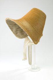 Bonnet de palha de 1830.