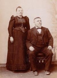 Casal em 1890.