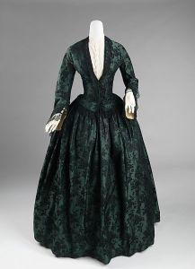 Vestido de manhã americano, 1850.