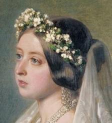 Rainha Vitória em seu casamento.