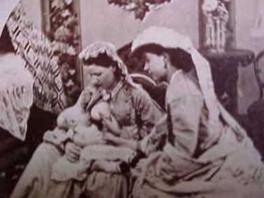 Mulher amamentando, 1860.