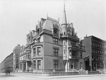 A mansão dos Vanderbilt, que seria demolida na década de 1930.