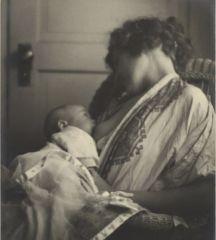 Mãe amamentando seu bebê, por Louis Fleckenstein, 1900.