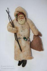 A figura do Papai Noel já existia, como mostra esse enfeite alemão do século XIX.