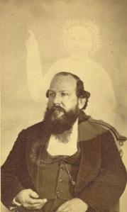Robert Bonner e o fantasma de sua esposa. Entre 1862-1875.