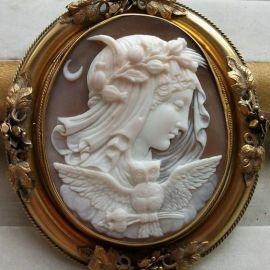 Camafeu feito por volta de 1840-1850. Alegoria da Noite.