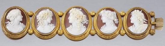 Bracelete de camafeu, 1860.