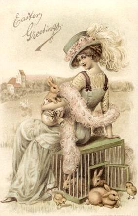 Cartão vitoriano de Páscoa.