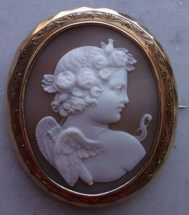 Broche do cupido, 1870.