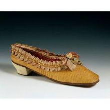 Sapatos de palha trançada, Alemanha, 1860.