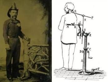 Supostamente o dispositivo que mantinha os mortos de pé. Mas eu me pergunto, as pernas ainda sustentariam o peso do corpo falecido?
