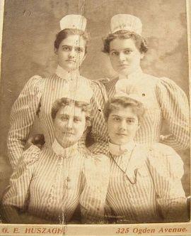 Enfermeiras em 1898.