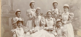 Portrait of a graduating class of nurses ca. late 1890s.