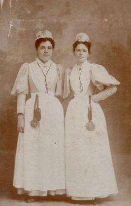 Enfermeiras da década de 1890.