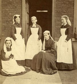 Enfermeiras do Great Ormond Street Hospital , 1878.